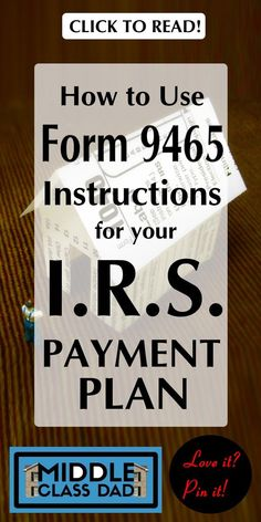 Can't pay your taxes this year? Don't try to hide & don't just file an extension! The form 9465 instructions don't have to be confusing, but you must . Tax Payment Plan, Irs Forms, Tax Help, Tax Refund, Financial Literacy, Ways To Save, Money Management