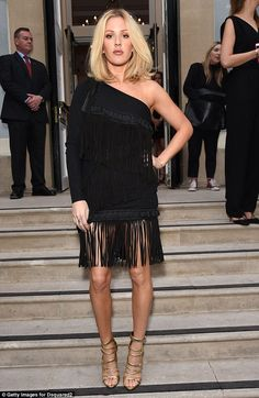 Ellie Goulding cuts a stylish figure in one-shouldered fringe dress to mingle with stars at London Collections Men event    Daily Mail Online