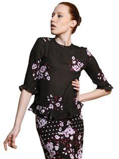 Erdem floral blouse