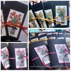 mini journal for craft fair using Love is Kindness created by Hand Stamped Style embellished with Taffeta Ribbon.
