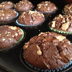 just made these using butter instead of oil and they are soooo good. Moist Chocolate Muffins