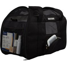 Deluxe Soft-Sided Pet Carrier for Cat or Small Dog- Includes Replacement Interior Pad, Airline Approved For Carry On Under Seat Caldwell's Pet Supply Co. http://www.amazon.com/dp/B00XTZTKE0/ref=cm_sw_r_pi_dp_2fVywb1TSSD8N