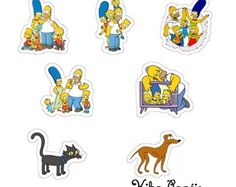 Aplique Família Simpson