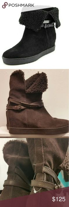 Coach booties size 8 Coach booties sz 8, brown wore these one time, they are in excellent condition ( nearly new) no trades Coach Shoes Ankle Boots & Booties