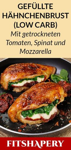 Diese gefüllte Hähnchenbrust ist Low Carb und reich an Eiweiß. Dadurch eignet… This stuffed chicken breast is low carb and high in protein. This makes it perfect for losing weight or for a low carbohydrate diet. Here you will find… Continue Reading → Low Carb Recipes, Healthy Recipes, Cheese Stuffed Chicken, Low Carbohydrate Diet, Food Inspiration, Chicken Recipes, Dinner Recipes, Healthy Eating, Lunch