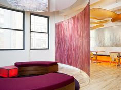 One of my favorite companies and products - 3form - and the lounge in their newly overhauled NYC offices.