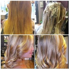 Sidney's before and after #Bayalage and #Ombre #highlights with #olaplex at Tammy's Hair Design