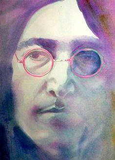 Art John Lennonfrom original watercolor painting by workingwoman, $35.00