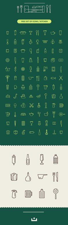 Free Set Of Kitchen Icons