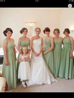 Sage green bridesmaids