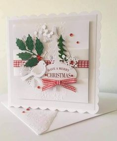 Holiday Cards, Christmas Cards, Merry Christmas, Rubber Stamping, Christmas And New Year, Handmade Christmas, Handmade Cards, Card Ideas, Projects To Try