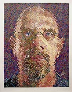 Bid now on Self-Portrait by Chuck Close. View a wide Variety of artworks by Chuck Close, now available for sale on artnet Auctions. Chuck Close Paintings, Chuck Close Art, Paintings I Love, Oil Paintings, Yale School Of Art, Photorealism, Human Art, Creative Portraits, Museum Of Modern Art