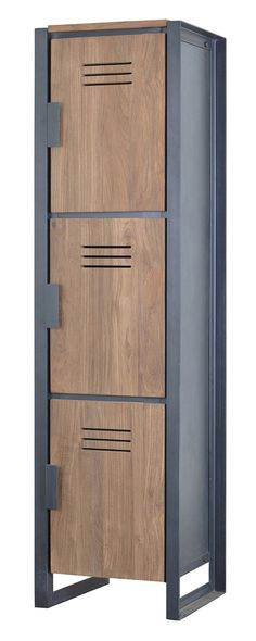You don't need a hall pass to enjoy this nostalgic Andersen Locker. Made with handsome recycled teak wood paneling and sleek metal framing, this unit puts a modern spin on the iconic storage units of t...  Find the Andersen Locker, as seen in the Detroit Strong Collection at http://dotandbo.com/collections/detroit-strong?utm_source=pinterest&utm_medium=organic&db_sku=116634