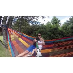 Hammock floating in the air