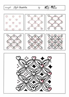 Lily's Valentine by Lily Moon; Lily's Zentangle: február 2014