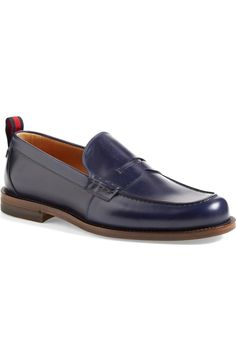 Gucci 'Tobias' Penny Loafer (Men)   Nordstrom Penny Loafers, Loafers Men, Tobias, Shoe Box, Grosgrain, Oxford Shoes, Dress Shoes, Gucci, Nordstrom