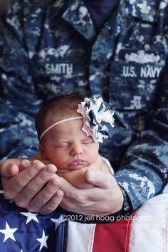 US Navy- Navy Princess in Pink and Camo Mini Headband or Hair Clip. $11.00, via Etsy.