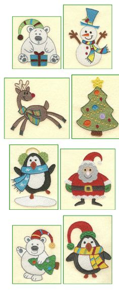 Free Machine Embroidery Designs, Christmas
