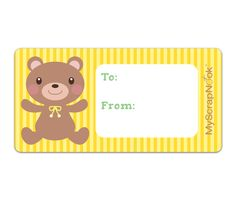 Download this Teddy Bear Hugs Shipping Label and other free printables from MyScrapNook.com