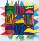 Artsonia Art Exhibit :: Line Pattern Paper Quilt