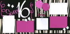 """Sweet 16 - The """"Out On A Limb Scrapbooking"""" Blog: April 2011 Birthday Scrapbook Layouts, Scrapbook Blog, Scrapbook Page Layouts, Scrapbook Albums, Scrapbook Cards, Scrapbooking Ideas, Sweet 16 Birthday, 8th Birthday, Teenager Birthday"""