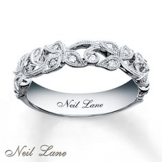 kay diamond leaves band   Neil Lane Designs Ring 1/8 ct tw Diamonds Sterling Silver-
