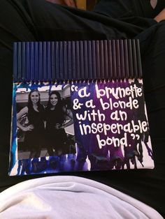 Bestfriend quote and picture crayon canvas