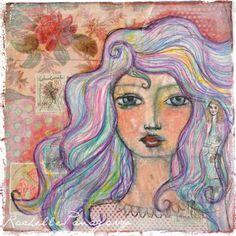 Art Eye Candy Girl Art Print by Rachelle Panagarry. $15.00, via Etsy.