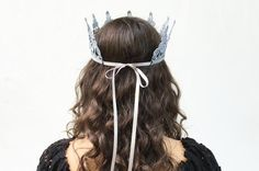 New Year's Eve Silver Crown. Silver Lace by BloomDesignStudio