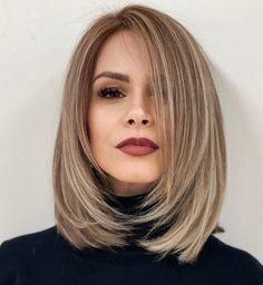 Medium Hair Cuts, Short Hair Cuts, Short Hair Styles, Layers In Medium Hair, Curly Short, Medium Short Hair, Haircuts Straight Hair, Haircut For Thick Hair, Mid Length Straight Hair