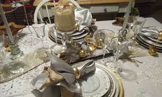 Cake Plates and Other Treasures New Years 2016, Cake Plates, Tablescapes, Table Settings, Winter, Winter Time, Table Scapes, Place Settings, Winter Fashion