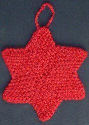 Six Pointed Star Christmas Ornament | AllFreeKnitting.com