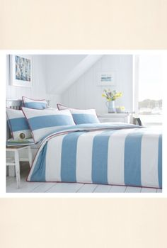 Seasalt have started doing bed linen and MY GOD it's lovely. Nautical Bedroom Fabrics - Seasalt bedlinen with a Cornish working boats theme