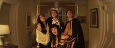 Keenan Tracey, Samantha Logan, Priscilla Quintana, and Tyler Young in Polaroid Easy Movies, Top Movies, Horror Movie Trailers, Horror Movies, Keenan Tracey, Final Destination Movies, Kathryn Prescott, Tyler Young, Movie Website