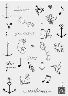 mini tattoos with meaning * mini tattoos . mini tattoos with meaning . mini tattoos for girls with meaning . mini tattoos with meaning for women Kritzelei Tattoo, Doodle Tattoo, Tattoo Drawings, Tattoo Bird, Tattoo Flash, Tattoo Quotes, In Ear Tattoo, Henna Tattoo Wrist, Small Henna Tattoos