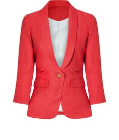 Smythe Shawl Collar Linen Blazer
