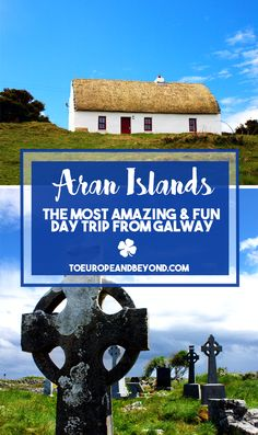 Located a few miles west of Galway in Western Ireland, this small group of three limestone islands has seemingly stood still against the current throughout the centuries, and by looking at it you'd could be fooled into thinking it's actually a movie set depicting 1800s rural Ireland. http://toeuropeandbeyond.com/a-daytrip-at-the-aran-islands/ #travel #Ireland