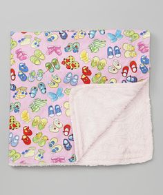 Look at this #zulilyfind! Pink Shoes Embossed Minky Stroller Blanket by Noa Lily #zulilyfinds