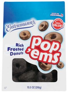 Entenmann's Donuts Rich Frosted Chocolate Donuts Pop'ems Reviews - Consmr