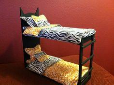 Monster High Doll House Furniture OOAK Bed Purrsephone Meowlody | eBay