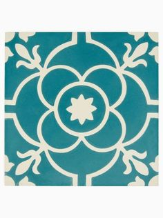 Old Havana Mariel Handmade Glazed Wall and Floor Tile with White and Teal Hand Decorated Pattern. Available to buy online from Claybrook. Free UK delivery and free samples. Tiles Uk, House Tiles, Wall And Floor Tiles, Wall Tiles, Cement Tiles, Wet Room Flooring, Painting Tile Floors, Encaustic Tile, Cement Crafts