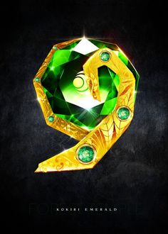 My rendition of a realistic Kokiri Emerald from the Forest Temple inspired by Legend of Zelda Ocarina of Time