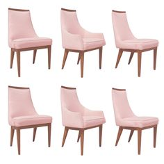 Set of Six French Style Mid-Century Modern Dining Chairs