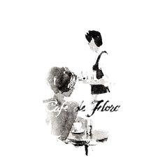 Hossein Borojeni Fashion illustration Café de Flore