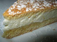 """""""Helenčin křehký koláč"""" - výýýborný! SUROVINYTěsto: 260g hladké mouky, 60g cukru krupice, 1 prášek do pečiva, 60g Hery nebo másla, 2 žloutky, 4 polévkové lžíce mléka, 2 polévkové lžíce rumu...trošku másla na vymazání koláčové formy (používám formu na pizzu)Tvarohová náplň: 500g tvarohu ve vaničce, 6 polévkových lžic cukru krupice, 1 celé vejce, 2 zarovnané polévkové lžíce dětské krupičky nebo hrubé mouky, kůra z jednoho citrónuPOSTUP PŘÍPRAVYNejdříve si přichystáme tvarohovou náplň... Vanilla Cake, Nutella, Sweet Tooth, Cheesecake, Good Food, Pie, Treats, Bakken, Torte"""