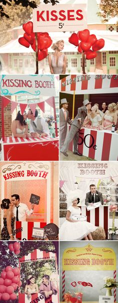 Creative Kissing Booth Ideas - vintage inspired