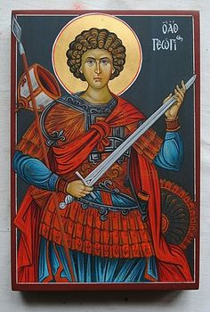 Sacred Orthodox Icons in Byzantine Style using Traditional Techniques of Egg Tempera. Icon Painting Courses and Workshops. Painting Courses, Great Warriors, Sf, Saint George, Orthodox Icons, Byzantine, Saints, Prayers, Pictures