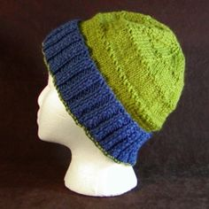 Adult Loose Winter Cap Pattern - For Straight Needles