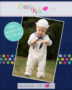 Create Kids Couture - Jonah's Baby Sailor Outfit PDF Pattern, $4.90 (http://createkidscouture.com/jonahs_babies.html/)