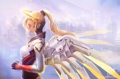 Video Game Overwatch  Mercy (Overwatch) Wallpaper